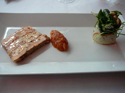 Pressé de foie gras de canard et courge caramélisée aux épices