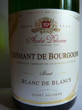 Crémant de Bourgogne Blanc de Blancs Brut, André Delorme