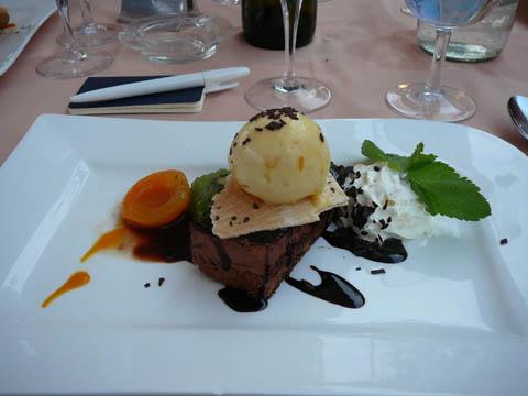 Restaurant Port de Pully Feuillantine au chocolat noir