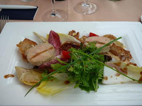 Restaurant Port de Pully Ballottine de foie gras de canard