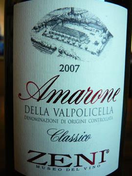 Amarone della Valpolicella Classico, Zeni, 2007