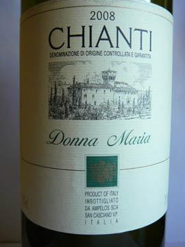 Chianti Donna Maria, 2008
