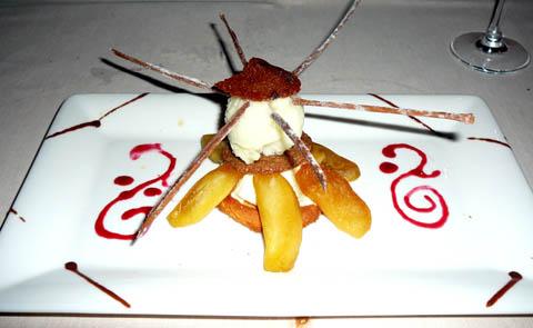 Sablé aux pommes caramélisées, fin spéculos fraîcheur granny-smith