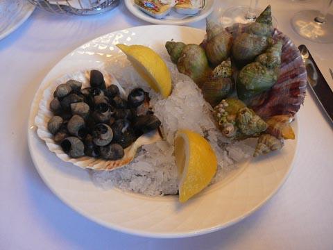 Mélange d'escargots de mer et bigorneaux