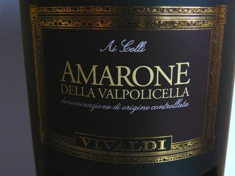 Vivaldi Ai Colli Amarone della Valpolicella DOC 2007