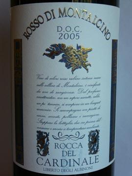 Rocca del Cardinale, Rosso di Montalcino DOC, 2005