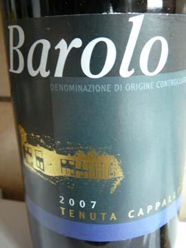 Barolo, Tenuta Cappallotto, 2007