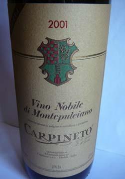 Vino Nobile di Montepulciano Riserva, Carpineto, 2001