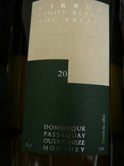 Pinot Blanc Cirrus  2010