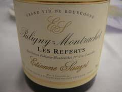 Etienne Sauzet 2 Puligny-Montrachet 1er cru Les Referts 2009