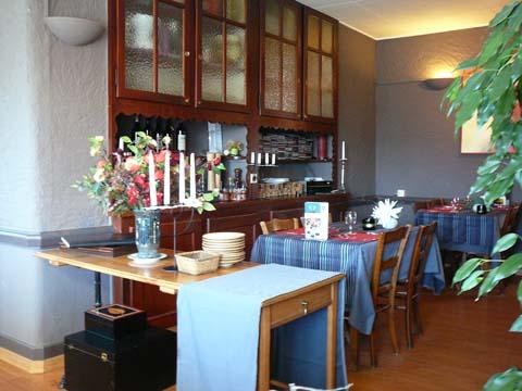Intérieur du Café Restaurant du Soleil à Forel