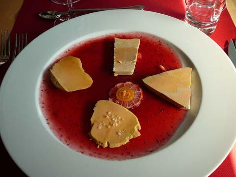 Assiette de quatre foies gras