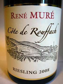 Riesling Côte de Rouffach 2008, René Muré