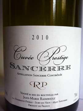 Sancerre Cuvée Prestige 2010, Jean-Marie Raimbault