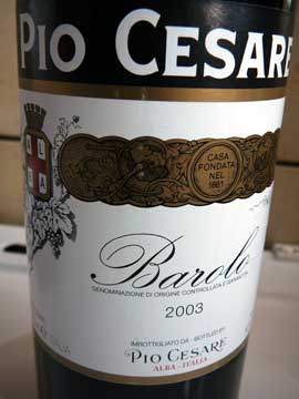 Pio Cesare Barolo 2003