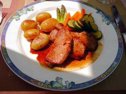 Major-Davel, Cully : Escalope de veau au citron