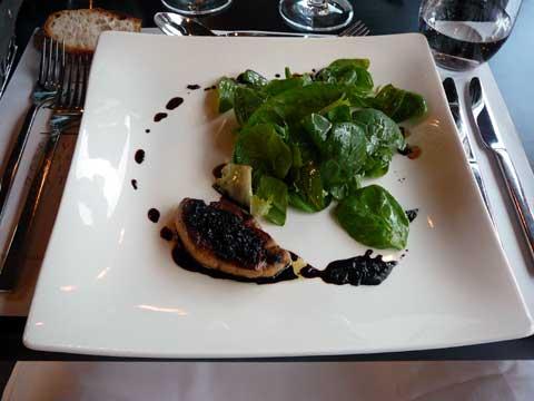Escalope de foie gras de canard des Landes poêlée