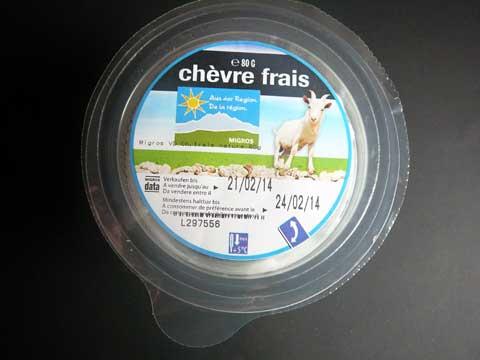 """Chèvre frais Migros """"De la région"""""""