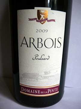 Poulsard Arbois 2009, Domaine de la Pinte