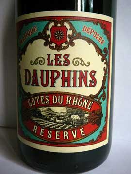 Les Dauphins Côtes du Rhône Réserve 2012