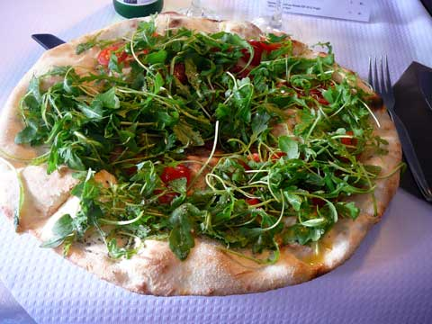 Pizzeria Calabria, Carouge / Genève  : Focaccia Calabria