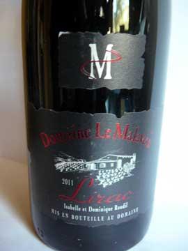 Lirac 2011, Domaine Le Malaven