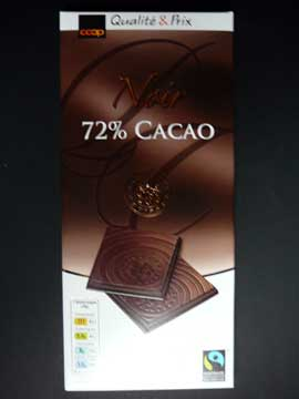 Chocolat Coop Noir 72% Cacao