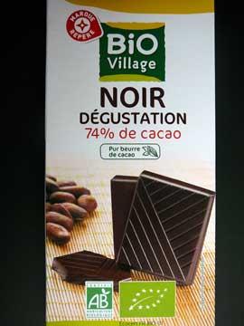 Chocolat Bio Village Noir Dégustation
