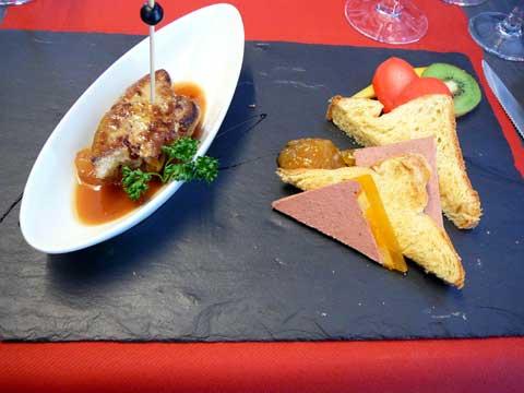 Duo de foie gras de canard avec ses brioches