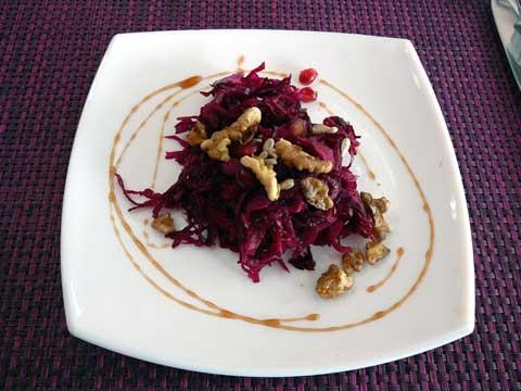 Salade Deep Purple choux rouge et grenade