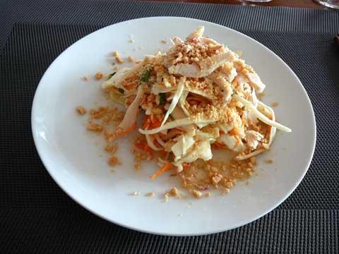 Salade de chou blanc au poulet