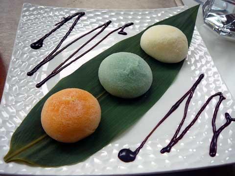 assortiment de glaces mochi