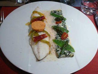 Barbue sauvage, poêlée au beurre de chorizo, zita, mascarpone et épinards