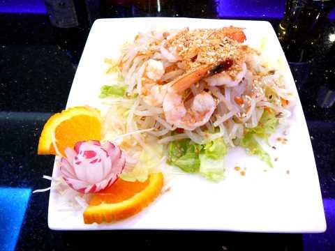 Salade de soja aux crevettes