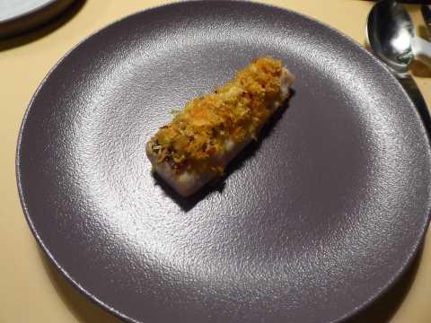 Filet de féra en croustillant d'écailles et condiment d'agrumes