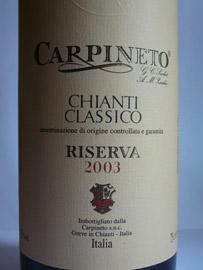 Carpineto Chianti Classico DOCG Riserva 2003