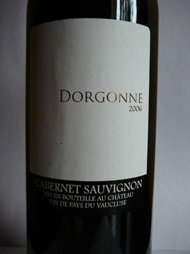 Dorgonne Cabernet Sauvignon 2006 VDP Vaucluse