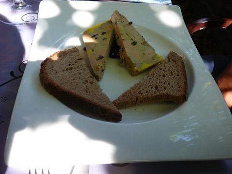 Terrine foie gras au poivre de sechuan
