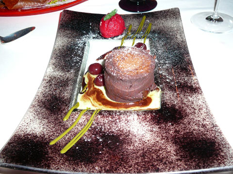 Gâteau coulant au chocolat-tanaisie