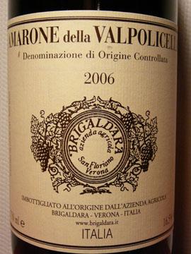 Amarone della Valpolicella DOC, Brigaldara, 2006
