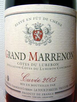 Grand Marrenon, Côtes du Luberon AOC, 2005