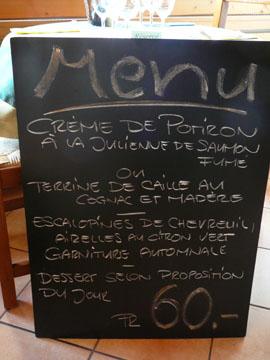 Le menu du jour à Plambuit