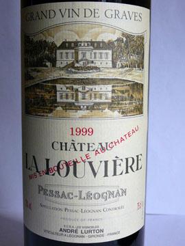 Château La Louvière, Pessac-Léognan, 1999