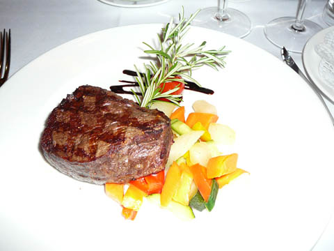 Filet de boeuf grillé,