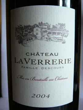 Château La Verrerie, Côtes du Luberon, 2004