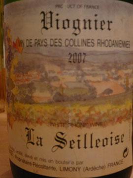 Viognier La Seilloise, Vin de Pays des Collines Rhodaniennes, Domaine Dumazet, 2007