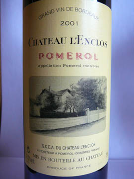 Château l'Enclos, Pomerol, 2001