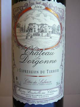 Château de la Dorgonne, L'Expression du Terroir Rouge, Côtes du Lubéron AOC, 2006