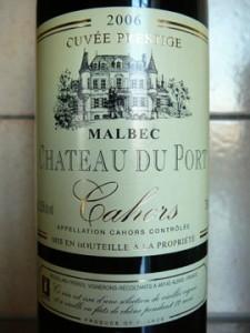 Château du Port, Cuvée Prestige, Cahors, 2006