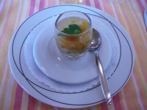 Marbré au gardon et aux légumes frais